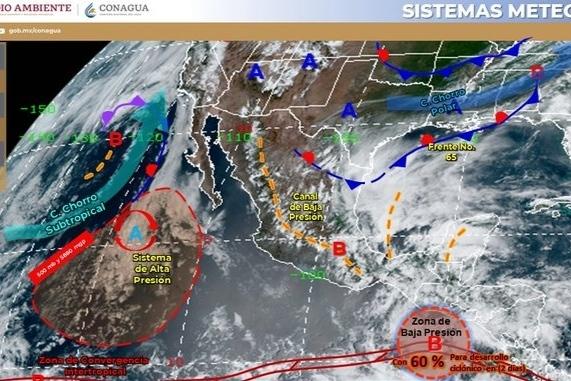 Zona de baja presión ya con 70% de posibilidad de ciclón tropical; inicia temporal lluvioso por varios días en México