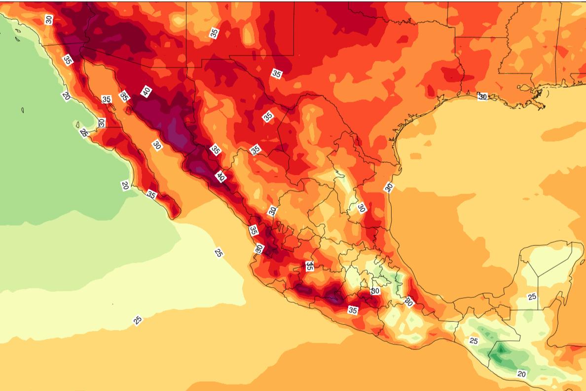 Para hoy, prevén que se superen los 45 grados en Baja California, Sonora y Sinaloa